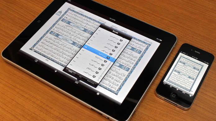 同じ iOS 4.2 でも、iPhone より iPad の方がフォントが多い。