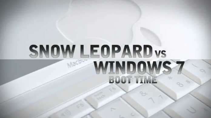 Mac OS X スノーレパード vs Windows 7の起動時間対決・・・!