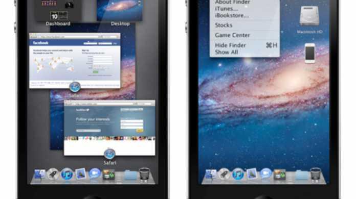 iPhoneでMission Controlだと!iPhoneのUIがMac OS X Lionになってるムービー。