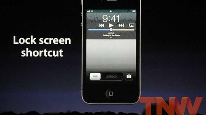 iOS 5 新機能!ロック画面からカメラを速攻起動する方法。