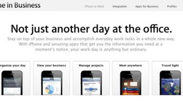 アップル、iPhone in Businessという新しいページを新設