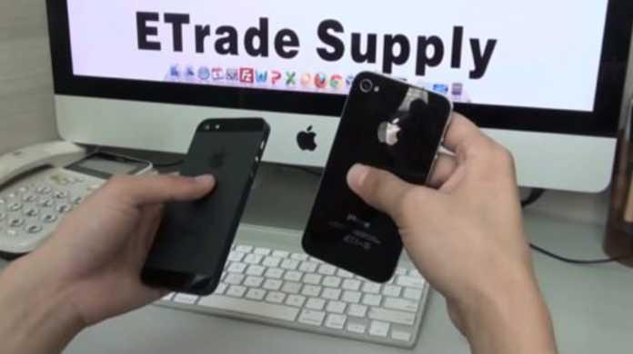 まさかホンモノ?iPhone 5とiPhone 4Sを比較している動画。
