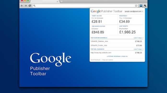 Google Publisher Toolbar - Adsenseの収益が自分のサイトに浮かび上がるChrome拡張機能