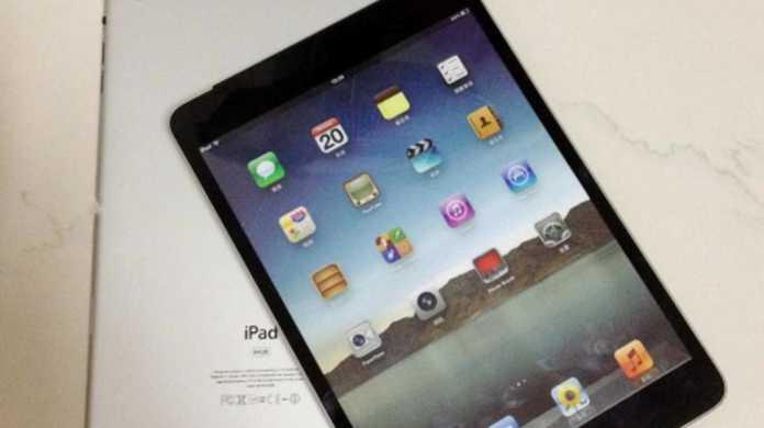 iPad miniのモックアップ写真が登場。