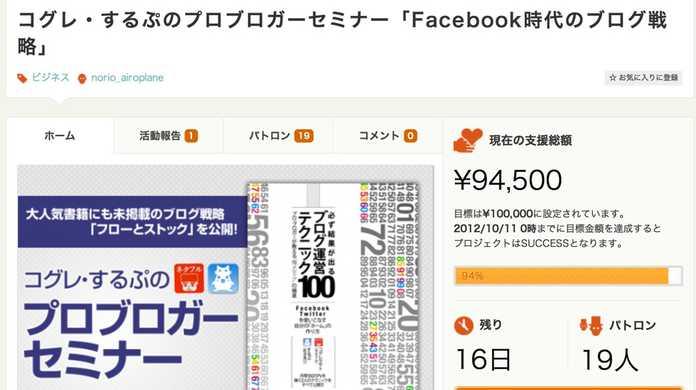 AMN主催「コグレ・するぷのプロブロガーセミナー Facebook時代のブログ戦略」に登壇します!