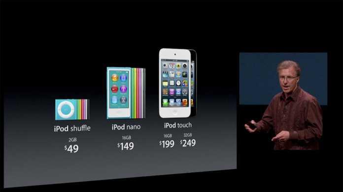 iPod touch 5、iPod nano 7の発売日は2012年10月9日。