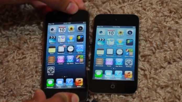 iPod touch 5 と iPod touch 4の起動速度を比較できる動画