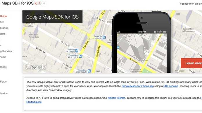 Googleマップ SDK for iOSも登場。URLスキームも発表。