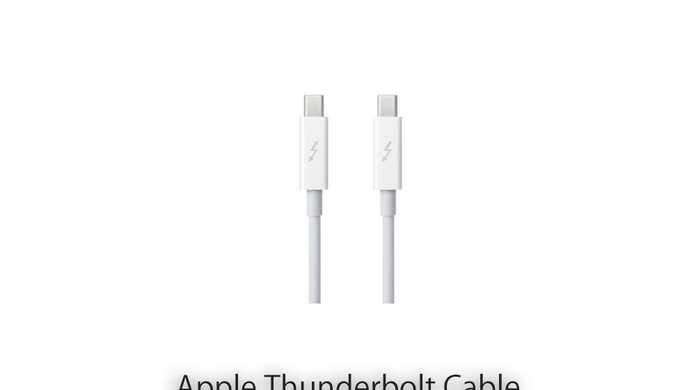Apple、Thunderboltケーブル0.5mモデルをリリース。2.0mを値下げ。