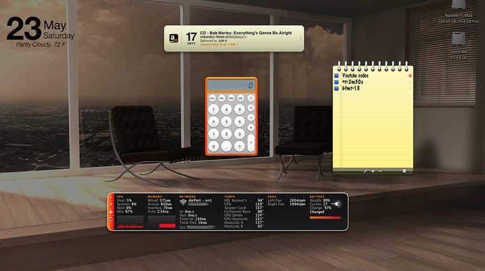 【Mac】天気予報を常に確認可!Dashboardのウィジェットをデスクトップに常駐させる方法。