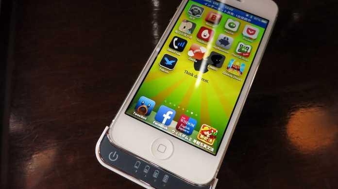 """【激安】たった1,650円で、iPhone 5のバッテリーの残り残量を """"193%"""" に出来るバッテリーケースがイイ感じ!"""