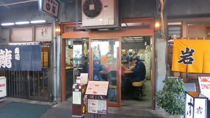 ボリューム満点だけど後味すっきり!築地の名店「中栄」の「合いがけカレー」!