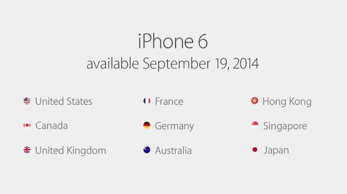 iPhone 6とiPhone 6 Plusの予約日と発売日が決定!