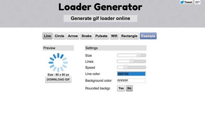Ajaxを使ったときに便利なローディング画像をサクっとつくれるウェブサービス「Loader Generator」