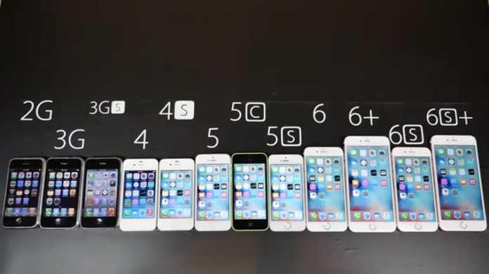 iPhone6sから元祖までを一度に起動してみると、その速度の差に驚愕する結果に。