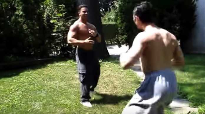 【動画】ムキムキのボディービルダーと格闘家が喧嘩したらどっちが勝つ!?