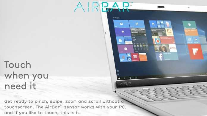 たった6千円で対応してないPCをタッチ対応にする「AirBar」