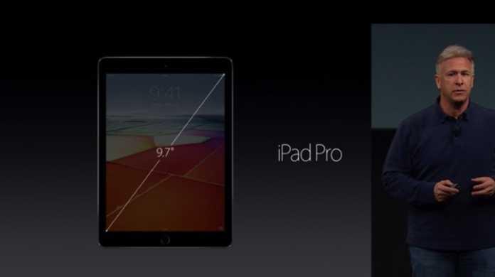 【速報】9.7インチの「iPad Pro」が登場!価格は599ドル(約6.68万円)から。発売日は3月31日。