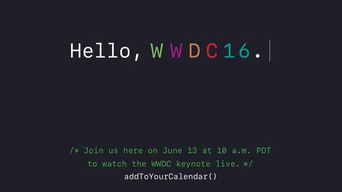 WWDC 2016の基調講演のリアルタイムのライブ配信が決定。