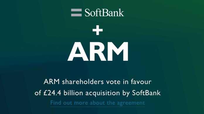ソフトバンクによる買収をARMの株主の95%の賛成で可決。