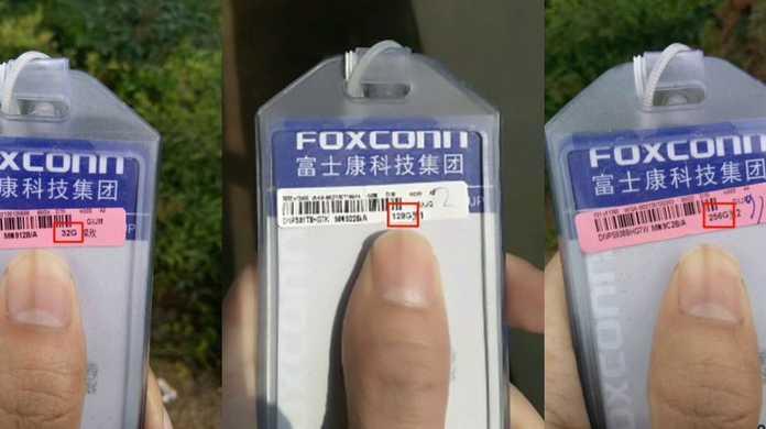 Foxconnより、iPhone 7のストレージがこんにちは。
