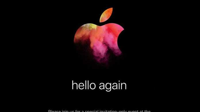 Apple、10月27日にスペシャルイベント「hello again」を開催することを正式に発表。新型MacBook Proくるか。