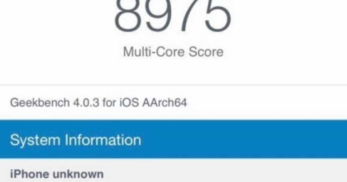 私の戦闘力は「8975」です・・・!嘘か誠かiPhone 8のベンチマークスコア現る。