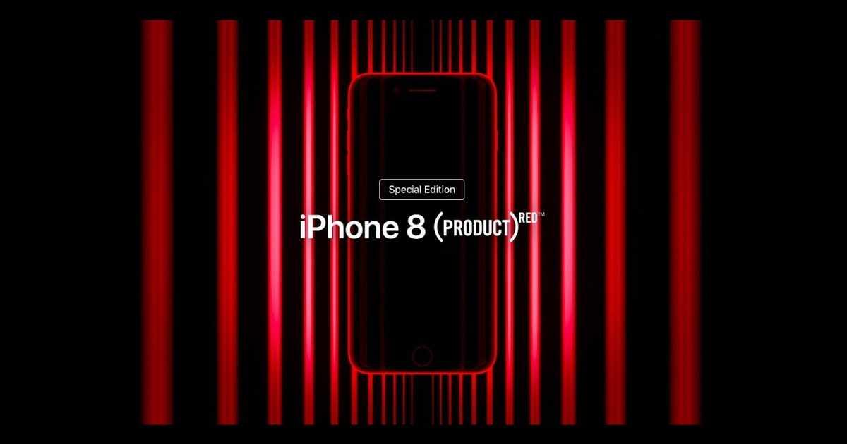 iPhone 8の新色プロダクトレッドのCMが登場。