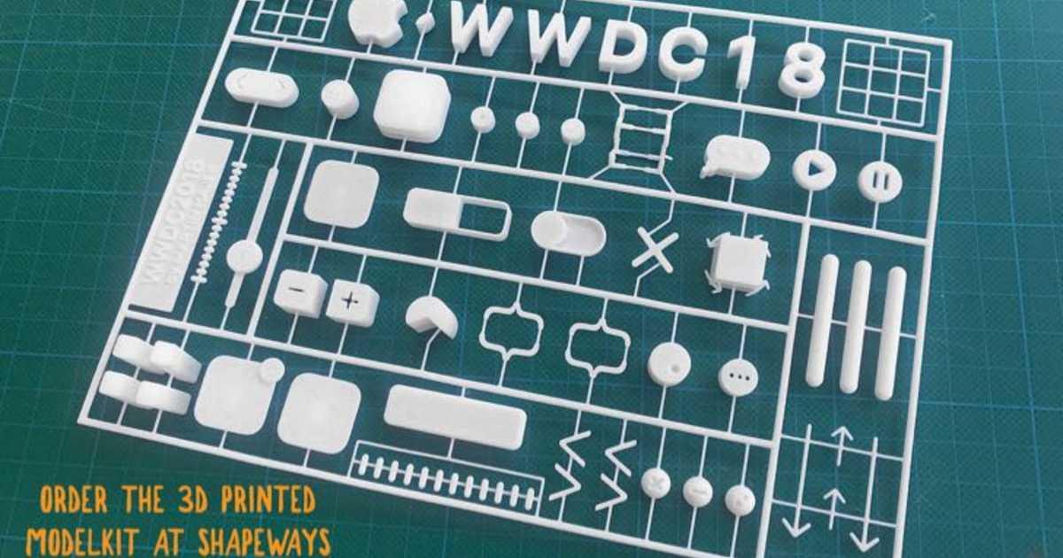 あのWWDC 2018の招待状ポスターを組立てられる3Dプリンター製プラモデルが登場!