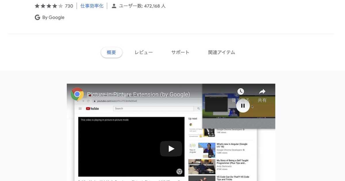 【Mac】Google Chromeであらゆる動画をピクチャインピクチャで再生するには