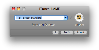 iTunes-LAMEを起動。